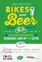steam whistle bikes and beer patio party